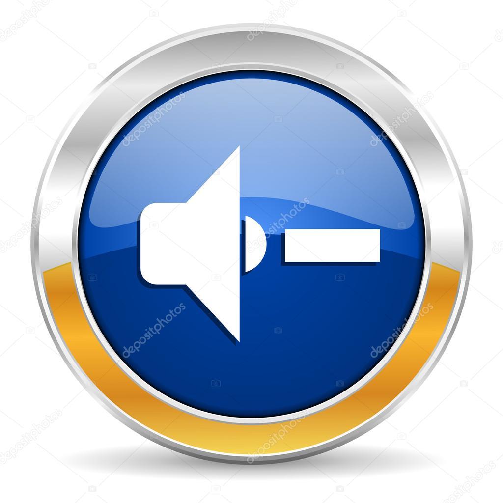 扬声器音量图标 — 图库照片