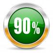 90 percent icon — Stock Photo