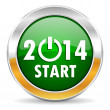 Year 2014 icon — Stock Photo #34837841