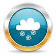 Snowing icon — Stock Photo #35114647