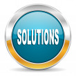 Solutions icon — Foto de stock #35116057