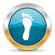 Foot icon — Stock Photo #35116979