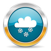 Snowing icon — Stock Photo