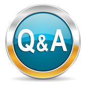 Question answer icon — Zdjęcie stockowe