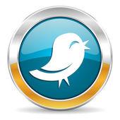 Icona di Twitter — Foto Stock