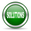 Solutions icon — Foto de Stock