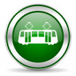 Tram icon — Stock Photo