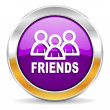 Friends icon — Stock Photo #35674109