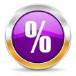 Percent icon — Foto de Stock
