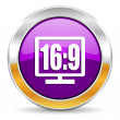16 9 display icon — Stock Photo #35674601