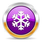 Snow icon — Stock Photo