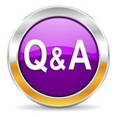Question answer icon — Stock Photo