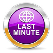 Last minute icon — Stock Photo