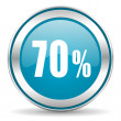 Stock Photo: 70 percent icon
