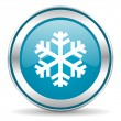 Snow icon — Stock Photo