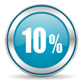 10 percent icon — Stock Photo