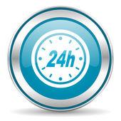 24 saat simgesi — Stok fotoğraf