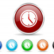 Foto Stock: Time icon set