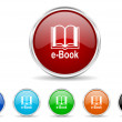 Book icon set — Stock Photo #36112831