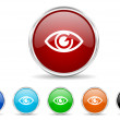 Eye icon set — Stock Photo #36112943