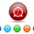 Foto Stock: Alarm icon set