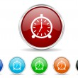 Foto de Stock  : Alarm icon set