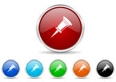Pin icon set — Stock Photo