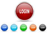Login icon set — Stock Photo