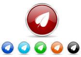 Leaf icon set — Stock Photo