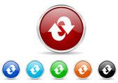 Rotation icon set — Stock Photo