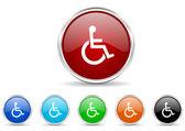 Wheelchair icon set — Stock Photo