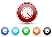время икона набор — Стоковое фото
