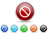 Access denied icon set — Stock Photo