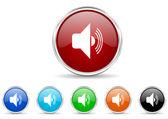Zestaw ikon głośności — Zdjęcie stockowe