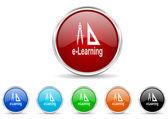 Larning icon set — Stock Photo