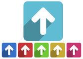 Arrow up icon set — Stock Photo