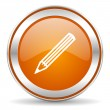 Pencil icon — Foto de Stock