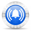 Alarm christmas icon — Stock Photo