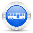 Bus christmas icon — Stock Photo