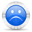 Cry christmas icon — Stock Photo
