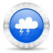Storm christmas icon — Foto Stock