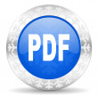Pdf christmas icon — Stock Photo