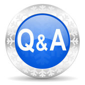 Question answer christmas icon — Stock Photo