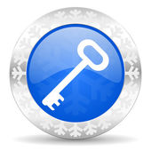 Key christmas icon — 图库照片