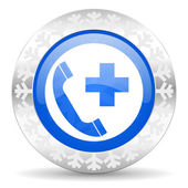 Emergency call christmas icon — Stock Photo