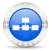 Database christmas icon — Стоковое фото