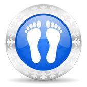 Foot christmas icon — Stock Photo