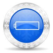 Battery christmas icon — Стоковое фото