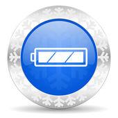 Battery christmas icon — Stock Photo