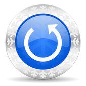 Rotate christmas icon — Stock Photo